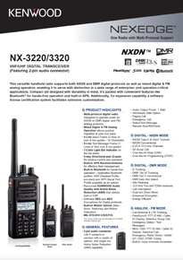 NX-3000 Series Portable Radio Brochure