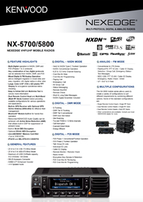 NX-5700/5800 EU Brochure now with DMR